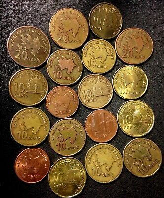 Old AZERBAIJAN Coin Lot - 18 Super Uncommon Hard to Find Coins - Lot #A18