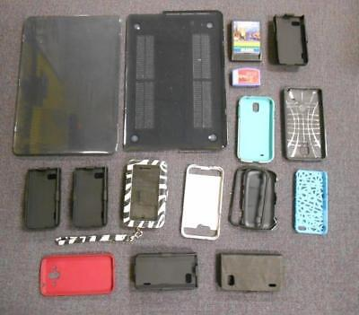 Lot of 15 Phone/Laptop Cases & Various Video Games *USED*
