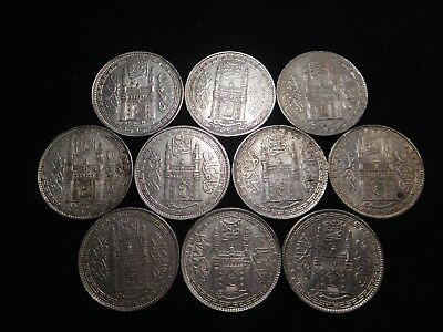 F184 India Hyderabad Rupee Mixed Dates Group 10 Pieces