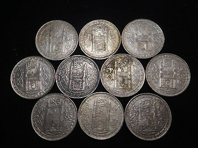 F193 India Hyderabad Rupee Mixed Dates Group 10 Pieces