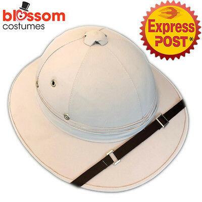 AS29 Mens Womens Deluxe Jungle Safari Pith Costume Hat Hunting Helmet