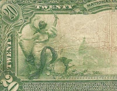 Large 1902 $20 Dollar Bill Buffalo New York National Bank Note Currency Ch 11768