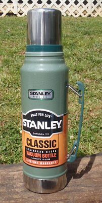 Stanley CLASSIC Hammertone Green Stainless Hot Cold 1.1 QT VACUUM BOTTLE THERMOS