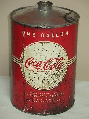 Vtg Coca Cola 1 Gallon Syrup Jug With Paper Lable
