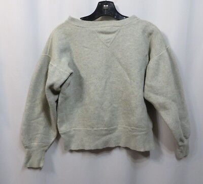 Vintage 50s Shirt Sweatshirt Reverse Weave Single V Stitch Blank Cotton Work RAB