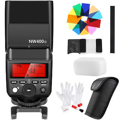 Neewer 2.4G Wireless TTL HSS 1/8000s Speedlite Flash+Color Filters+Cleaning Kit