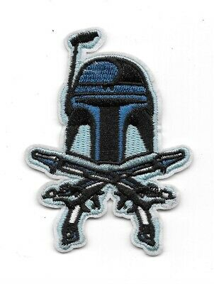 Star Wars / Clone Wars Jango Fett Crossed Pistols Embroidered Patch Style 2 NEW