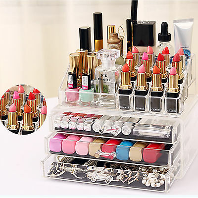 MULTI MAKE up Cosmetic Organizer Acrylic Makeup Case Jewelry Holder