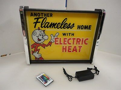 Reddy Kilowatt Another Flameless Home LED Display light sign box