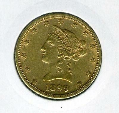 1899 United States Gold $10.00 Coronet Head - Free Postage in Australia