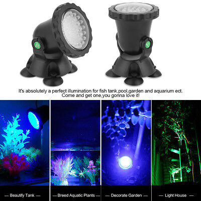 Garden Fountain Aquarium Fish Tank Pool Pond 36LED Spot Light Underwater Light