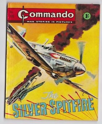 COMMANDO War Stories in Pictures No 199 The Silver Spitfire