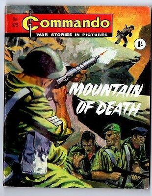 COMMANDO War Stories in Pictures No 372 MOUNTAIN OF DEATH