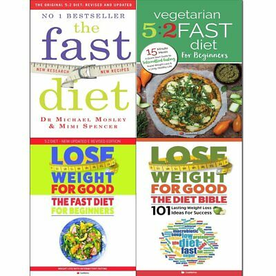 Fast Diet,Diet Bible and Vegetarian 5:2 Fast Diet 4 Books Collection Pack Set PB