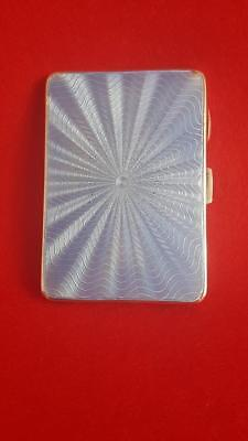 Lovely Lady's B'ham 1933 Sterling Silver Guilloche Enamel Cigarette Case 78g