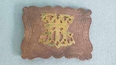 Edwardian Period Sterling Silver Belt Buckle – Nursing?
