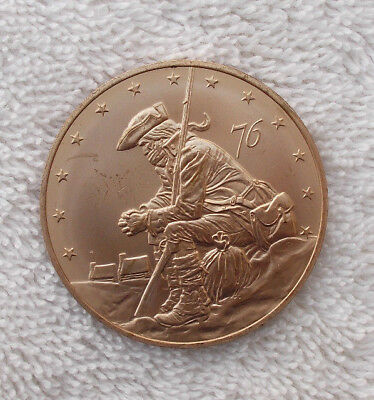 """Vintage 1.5"""" Sterling Silver Medal Coin 1976 Pennsylvania Gold Plated Memorial"""