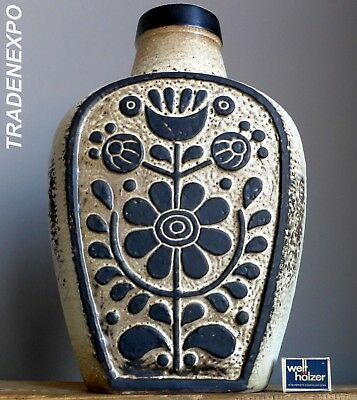 XL Vintage DIETER PETER for CARSTENS LUXUS Floor Vase German Pottery Fat Lava Er