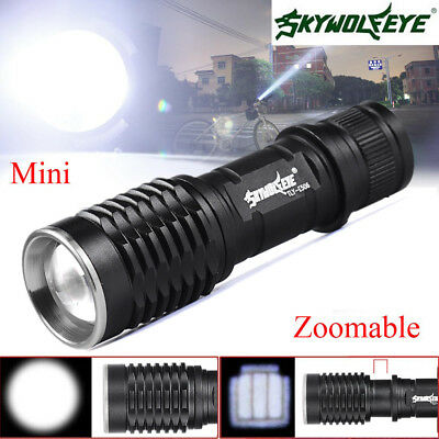 Zoomable 5000LM  Q5 LED Flashlight Torch 3 Modes Super Bright  Torch Light Lamp