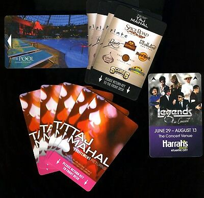 (11) Trump Taj Mahal / Harrah's Room Keys - atlantic city ac