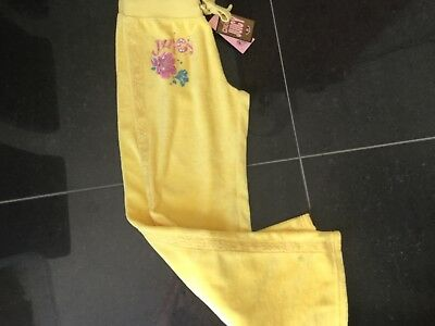 NWT Juicy Couture New Gen. Girls Age 10 Yellow Cotton Tracksuit Pants With Logo