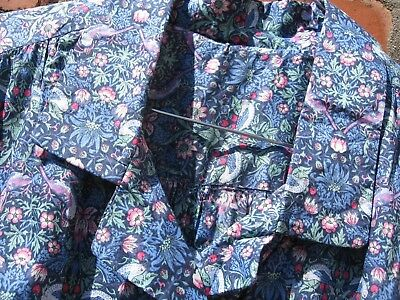 Liberty Fabric Dress William Morris Strawberry Thief Small Print Blues Size 14