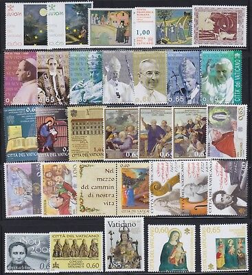VATICAN 2009 Complete Year Set 30v + 4 S/S MNH / B22654