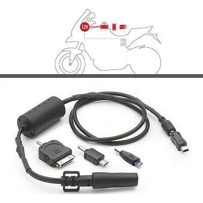 Givi S112 Power Connection Kit Pack of 4 Charging Adaptors Electrical Feed Bike