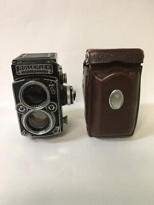 Rolleiflex 2.8E Zeiss Planar with Leather Case