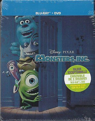 Monsters, Inc. Collectible SteelBook [Blu-ray + DVD + Digital Movie, 4-Disc] NEW