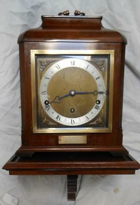 elliot walnut cased westminster whittington bracket on bracket clock