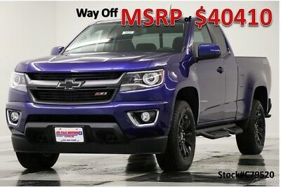 Chevrolet Colorado MSRP$40410 4X4 GPS Laser Blue Metallic Ext 4WD New Heated Seats Navigation Camera Extended Cab Bluetooth Mylink 16 2016 17