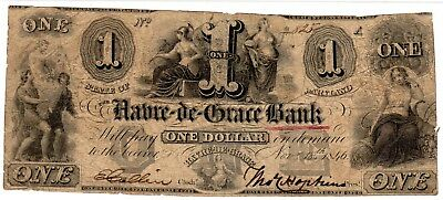 Maryland - Havre-de-Grace Bank - $1.00 - 1846