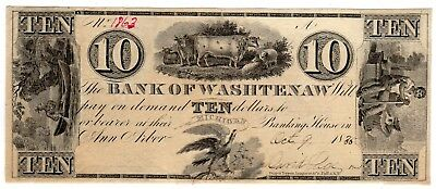 Michigan - Bank of Washtenaw - $10.00 - 18XX