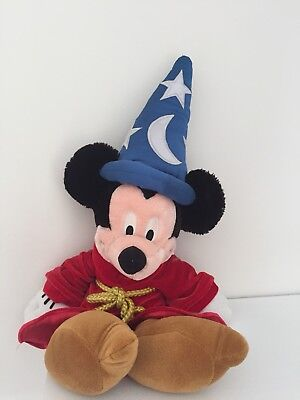 Disney Store Disneyland Mickey Mouse Fantasia Wizard Soft Toy Collectable