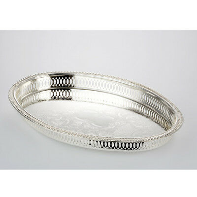 Serving Silver Oval 37 cm Large Serving Plate Decoration Bowl Decode-Tray