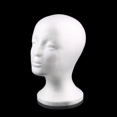 Polystyrene Female Display Mannequin Head Dummy Wig Stand Display Manikin Foam