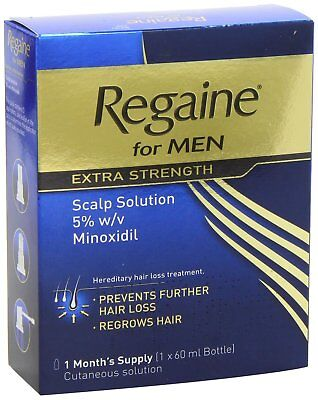 NEW Regaine for Men Extra Strength Scalp Solution 5% - 1 Month's Supply - 60ml
