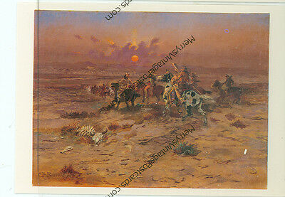 "Charles Russell-Stolen Horses-Indians-4""x6"" Postcard-(Indian4X6-5*)1987"