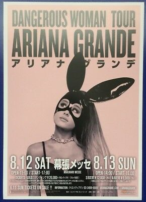 Ariana Grande Dangerous Woman Tour 2017 Japanese Chirashi Mini Poster