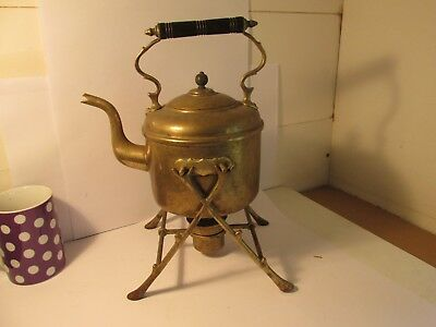 brass kettle on stand c1880
