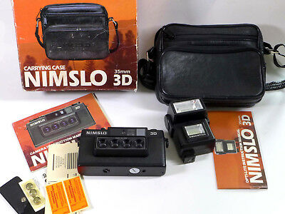 NIMSLO 3-D camera and Flash - Tested (batteries included) ready to use! - sh