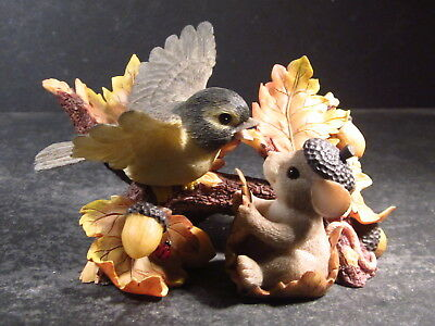 Charming Tails WHEREVER YOU LAND I'LL BE THERE Mouse & Bird MIB 98/240