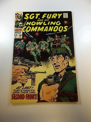 Sgt. Fury and His Howling Commandos #58 VG+ condition