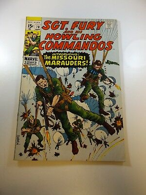 Sgt. Fury and His Howling Commandos #70 FN- condition Huge auction going on now!