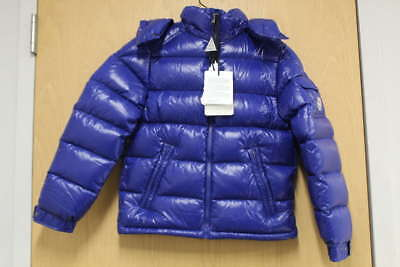Moncler Boys' Size 12A Maya Puffer Jacket In Blue 4198905