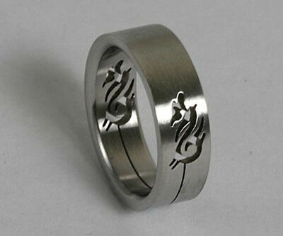 Men Women 316L Stainless Steel Dragon 6mm Ring Band Size 6, 7 NEW SS16