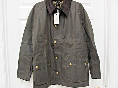 Barbour ASHBY Jacket Olive Waxed Cotton Men's XL Tartan Lining