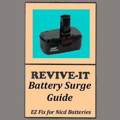 FIX your BOSCH Nicd battery, REVIVE-IT® guide + video, 9.6v 12v 14.4v 18v