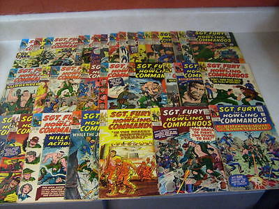 Sgt Fury #14,15,16,17,18,19,21-33,35,37,39-49 Howling Commandos, 32 Issues, 1963
